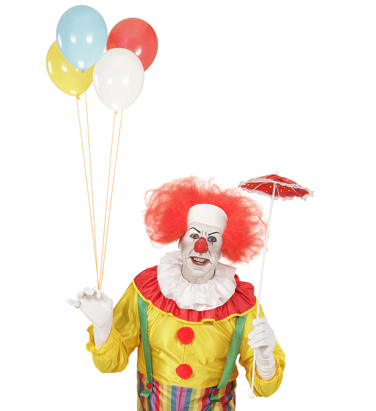 WIG/NOVELTY/CLOWN HEADPIECE WITH RED HAIR