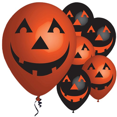 ACCESSORIES/HALLOWEEN/PROPS/PACK OF 6 PUMPKIN BALLOONS