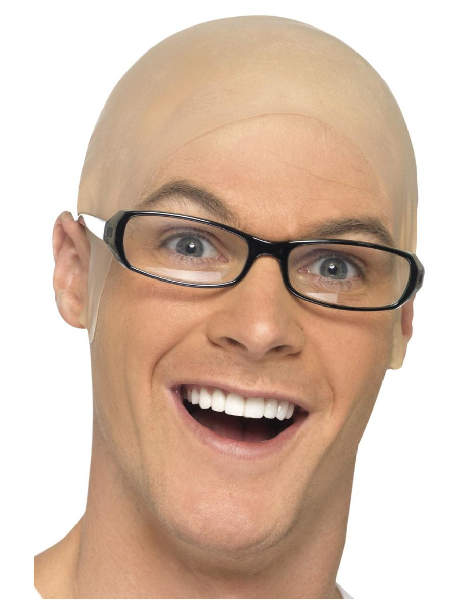 WIG/NOVELTY/ Bald, Skin Head, Flesh