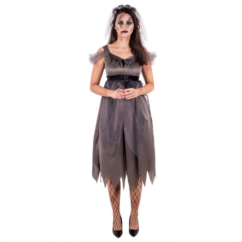 WOMAN/HALLOWEEN/ WOMENS ZOMBIE BRIDE COSTUME