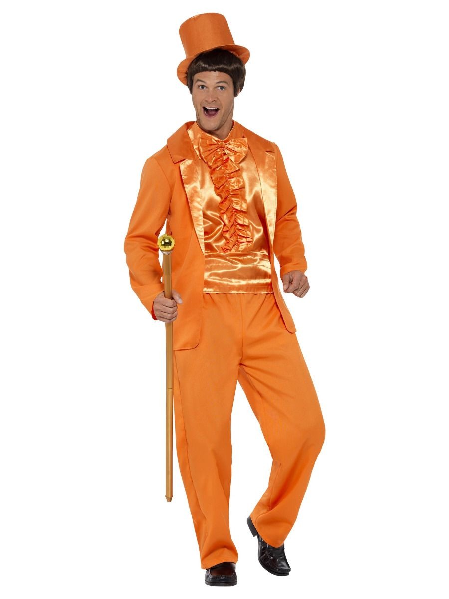 MENS/DECADES/1990'S/90s Stupid Tuxedo Costume, Orange