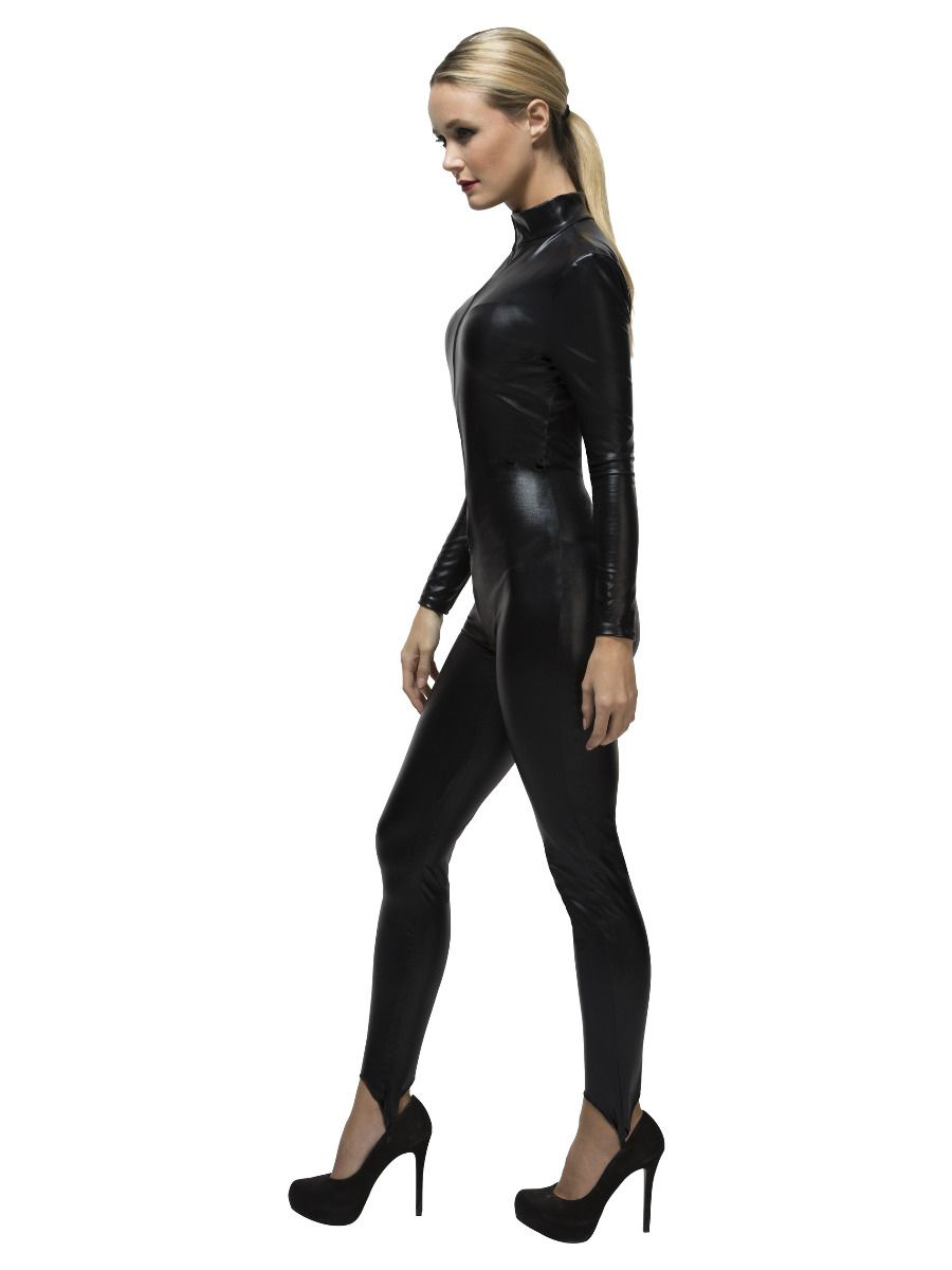 WOMAN/BODYSUITS & LEGGING/Fever Miss Whiplash Costume, Black