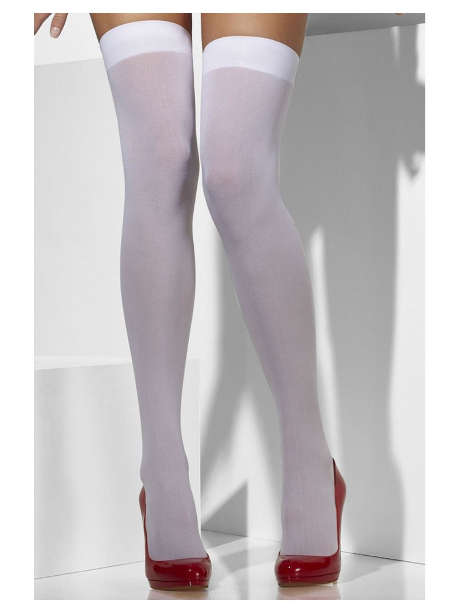 ACCESSORIES/TIGHTS & STOCKINGS/Opaque Hold-Ups, White