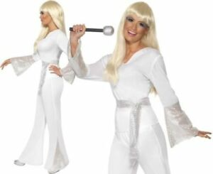 WOMAN/DECADES/1970'S/70s Disco Lady Costume, White