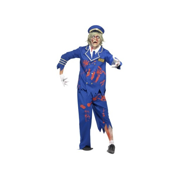 MENS/HALLOWEEN/Zombie Pilot/Captain Costume, Blue