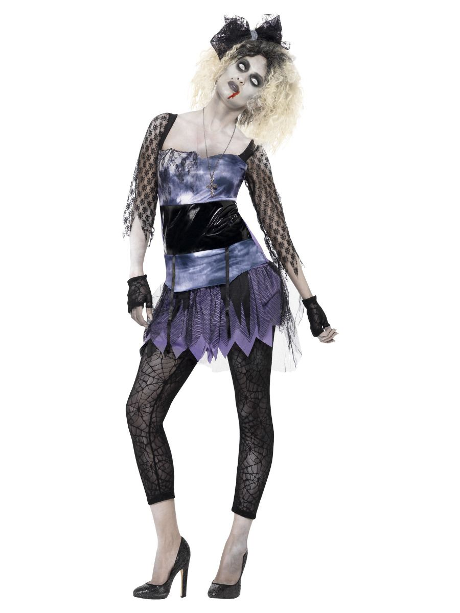 WOMAN/HALLOWEEN/Zombie 80s Wild Child Costume, Black