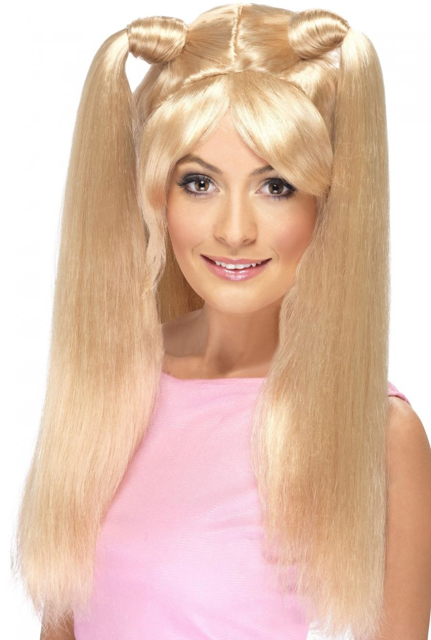 WIG/POPSTARS/BABY SPICE WIG - BLONDE WITH PONY TAILS