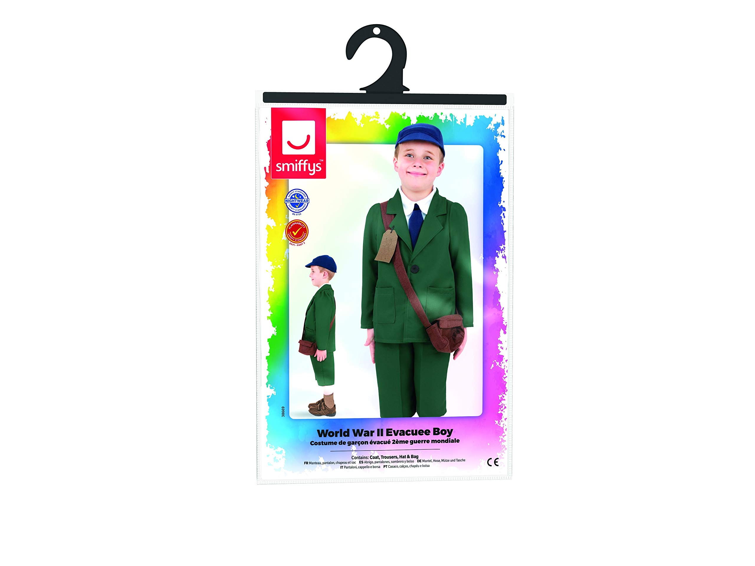 BOYS/HISTORY/World War II Evacuee Boy Costume, Green