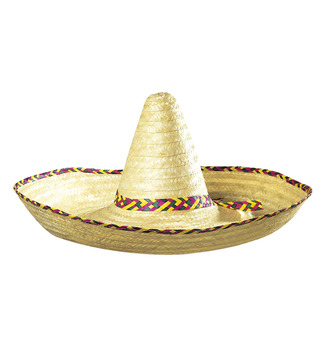 ACCESSORIES/HATS & HEADBANDS/ GIANT SOMBRERO DECORATED 65cm