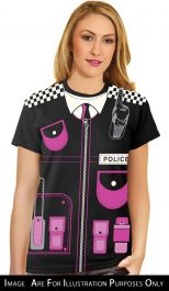 WOMAN/UNIFORMS/ Ladies Police Printed T-Shirt
