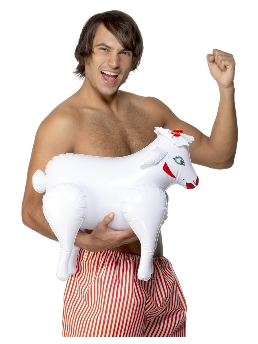 ACCESSORIES/INFLATABLES/Inflatable Sheep, Bonking Baa Baa, White