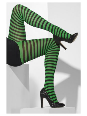 ACCESSORIES/TIGHTS&STOCKINGS/Opaque Tights, Green & Black