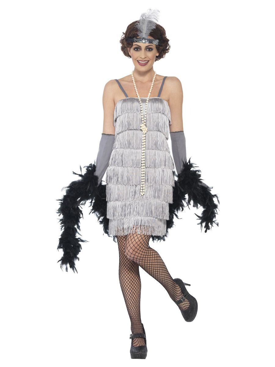 WOMAN/DECADES/1920'S/Flapper Costume, Silver