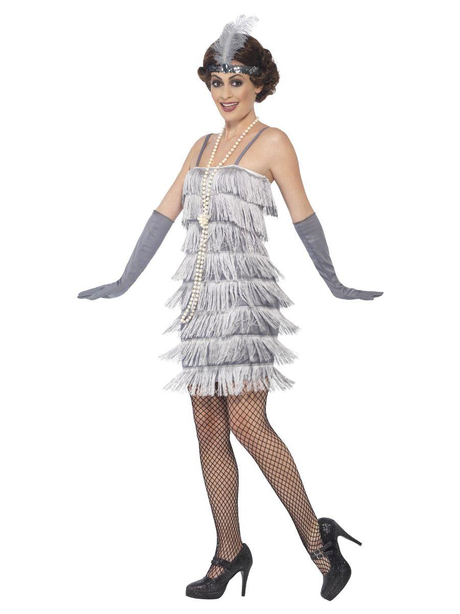 WOMAN/DECADES/1920'S/Flapper Costume, Silver
