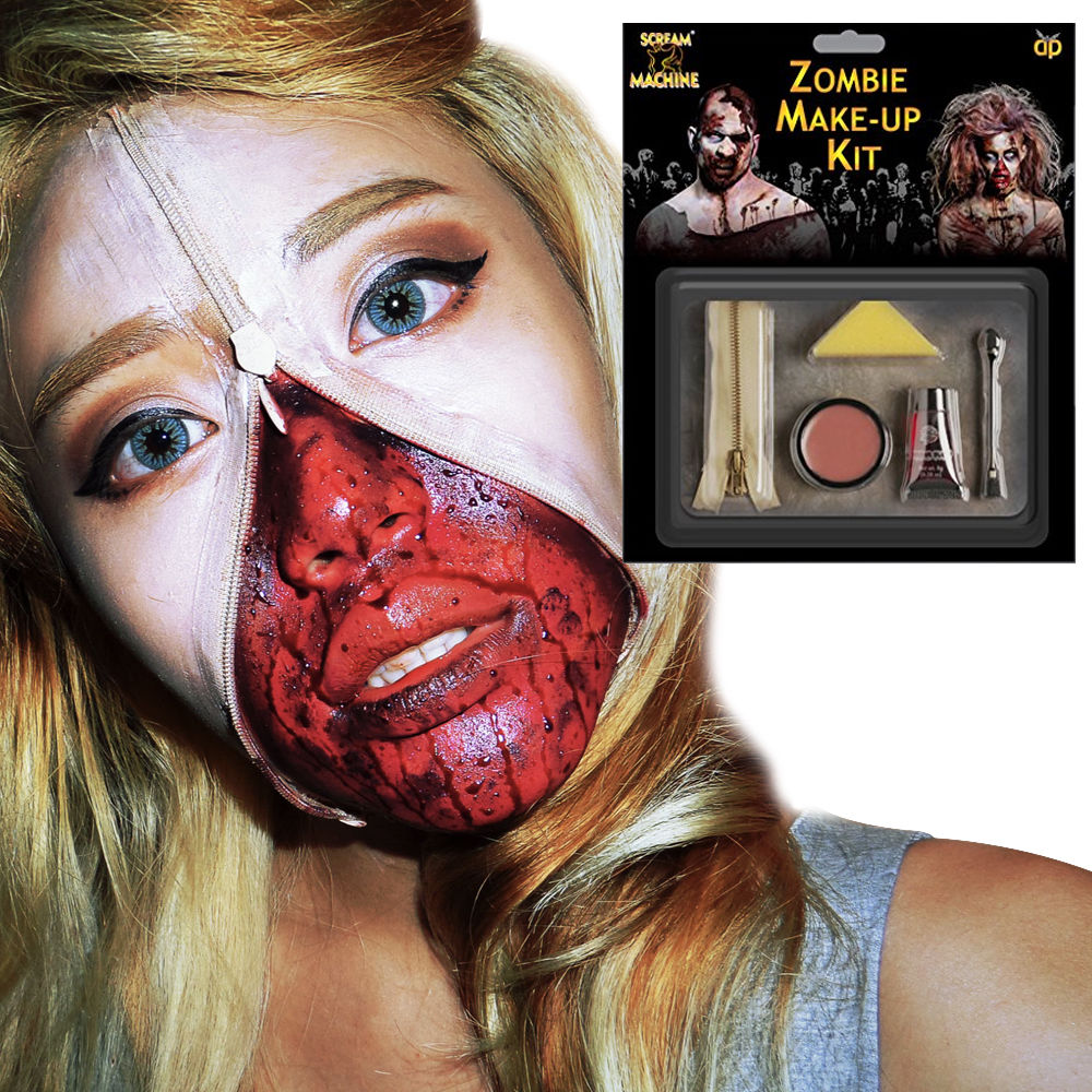 MAKEUP/SCARS & WOUNDS/ZOMBIE ZIPPER SET