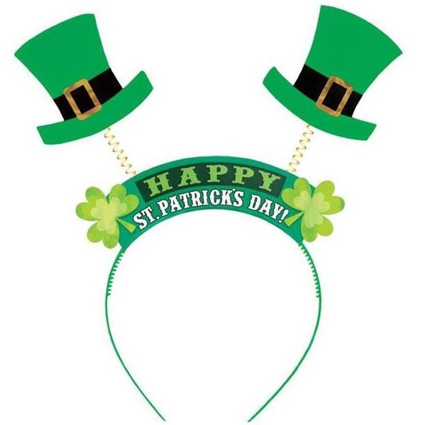 ACCESSORIES/HATS & HEADBANDS/'Happy St Patricks Day' Headband - 25cm