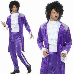 MENS/DECADES/1980'S/80s Purple Musician Costume, Purple