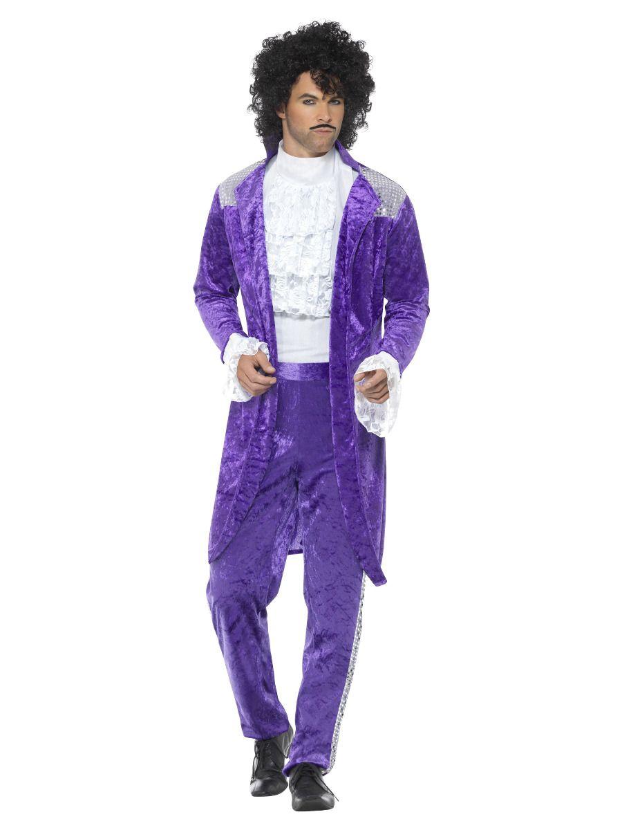 MENS/DECADES/1980'S/80s Purple Musician Costume, Purple