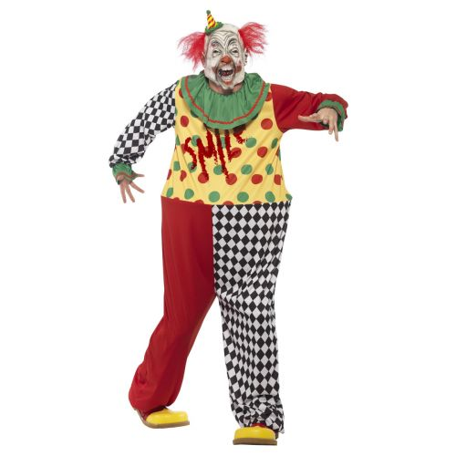 MENS/HALLOWEEN/Sinister Clown Costume, Black