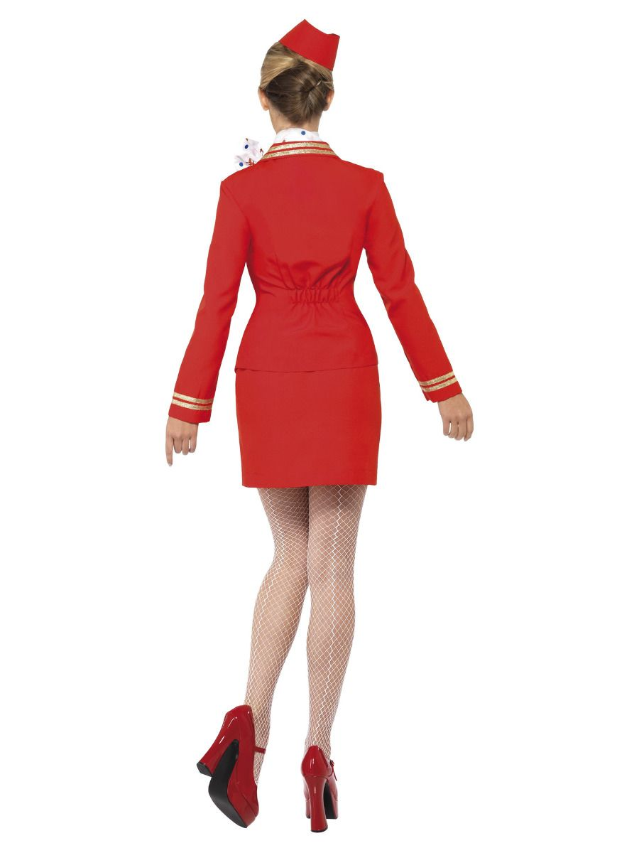 WOMAN/UNIFORMS/Trolley Dolly Costume, Red