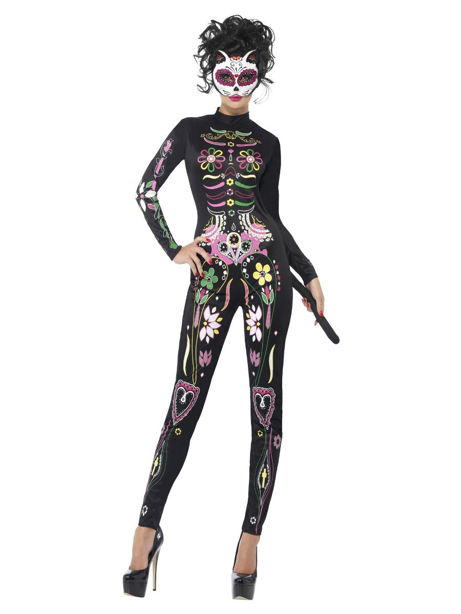 WOMAN/HALLOWEEN/Sugar Skull Cat Costume, Black
