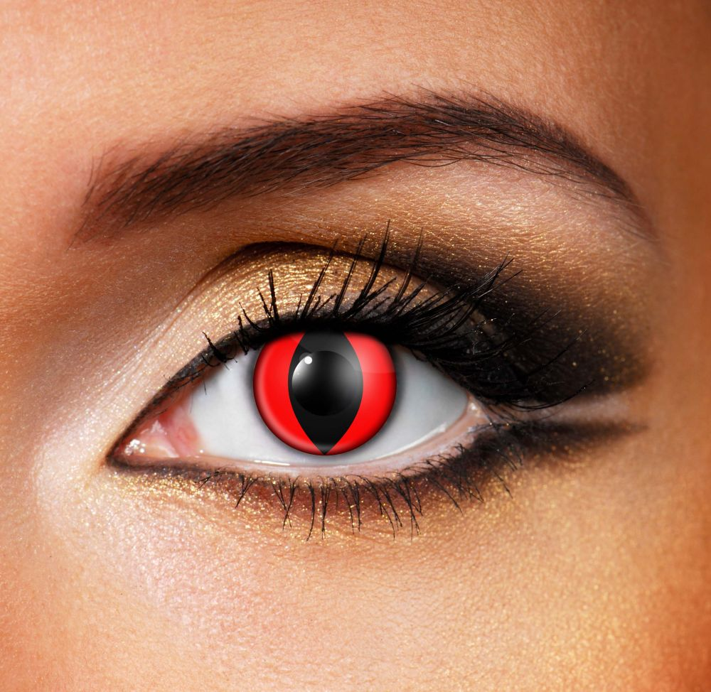 ACCESSORIES/HALLOWEEN/PROPS/ RED CAT CONTACT LENSES