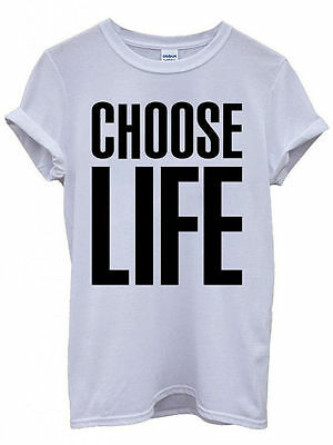 MENS/DECADES/1980s/UNISEX CHOOSE LIFE T SHIRT