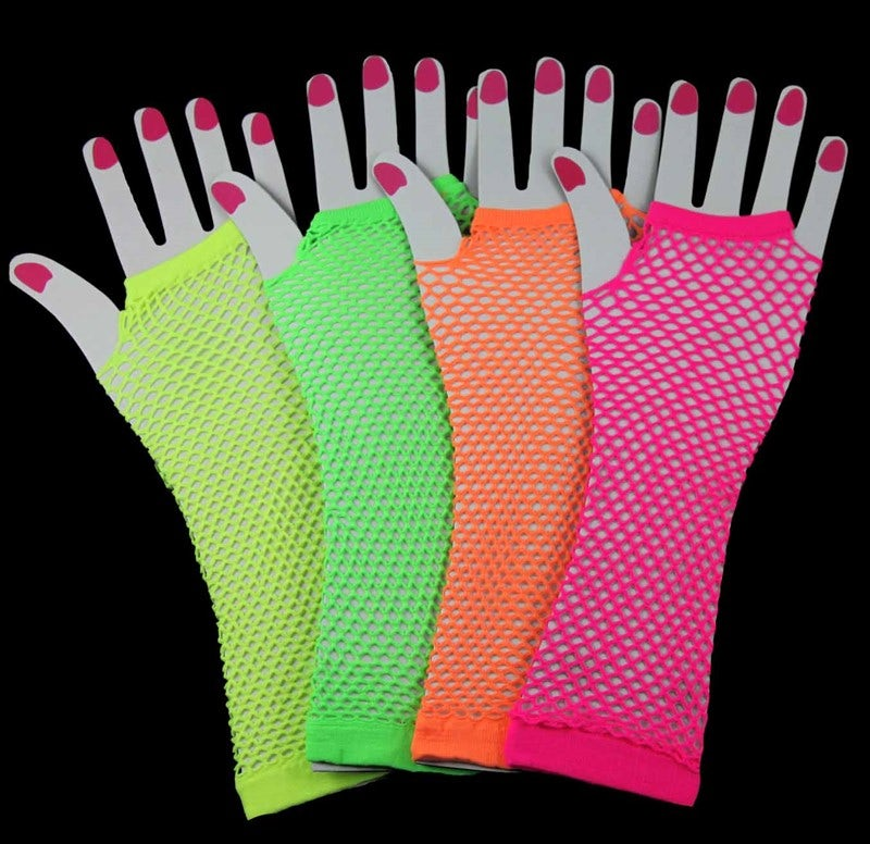 ACCESSORIES/GLOVES&SCARVES/LONG FISHNET FINGERLESS GLOVES