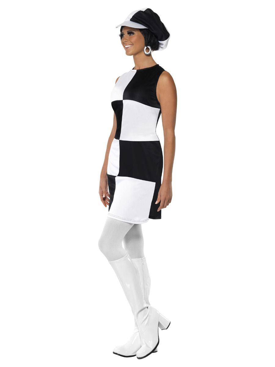 WOMAN/DECADES/1960'S/60s Party Girl Costume, Black & White