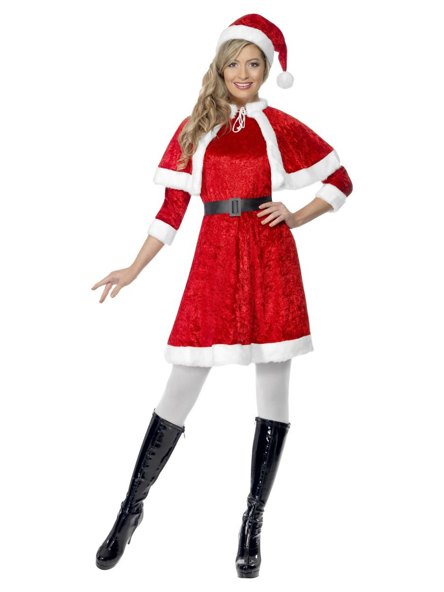 WOMAN/CHRISTMAS/Miss Santa Costume, Red