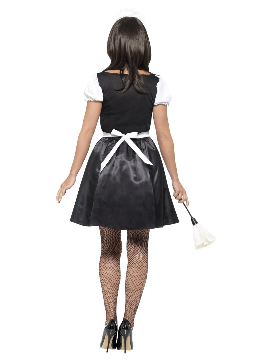 WOMAN/UNIFORMS/French Maid Costume with Dress, Black