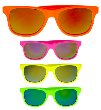 ACCESSORIES/GLASSES/80s COLOURED GLASSES - 4 colours