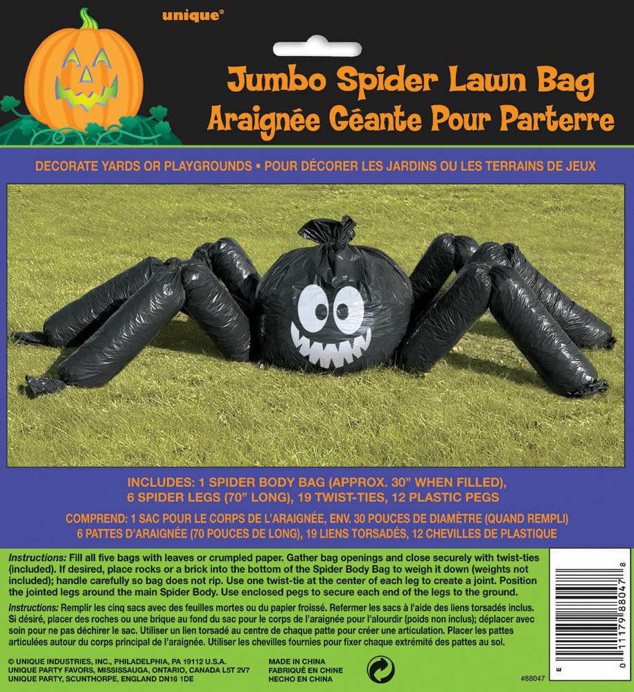 ACCESSORIES/HALLOWEEN/PROPS/JUMBO SPIDER LAWN BAG