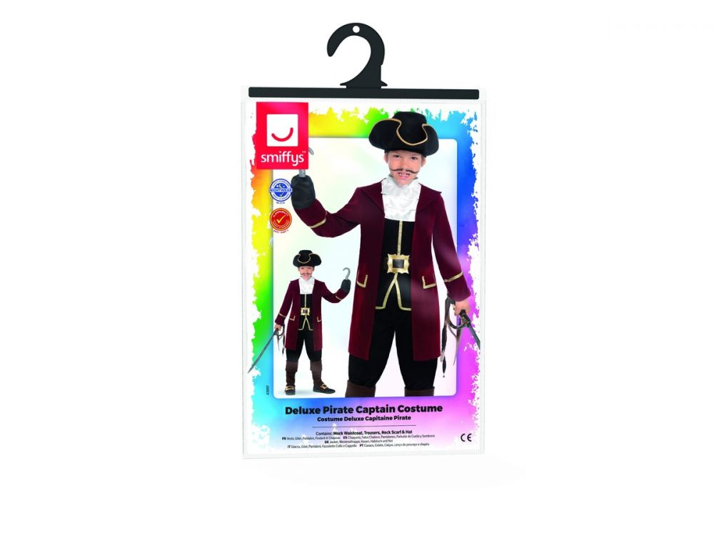 BOYS/PIRATES/Deluxe Pirate Captain Costume, Black
