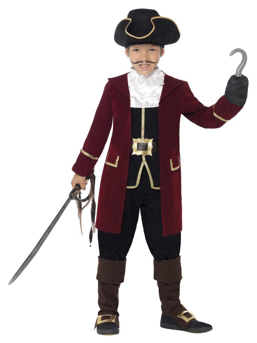 BOYS/PIRATES/Deluxe Pirate Captain Costume, Black