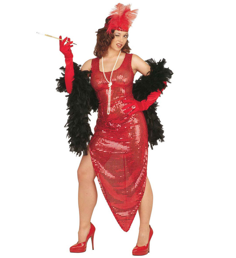 WOMAN/HISTORY/CELEBRITY COSTUME Gold/Silver/Red/Black (dress)