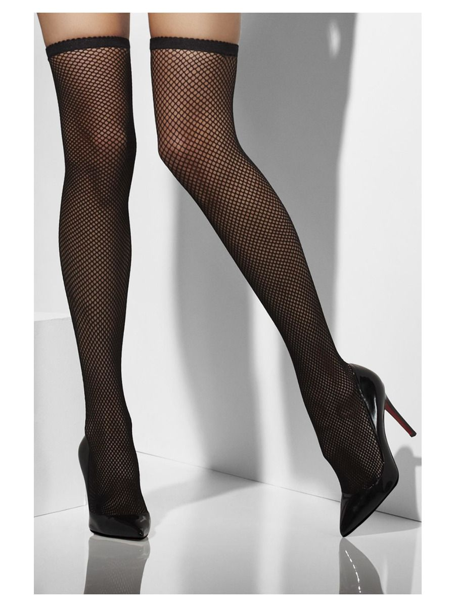 ACCESSORIES/TIGHTS & STOCKINGS/Fishnet Hold-Ups, Black