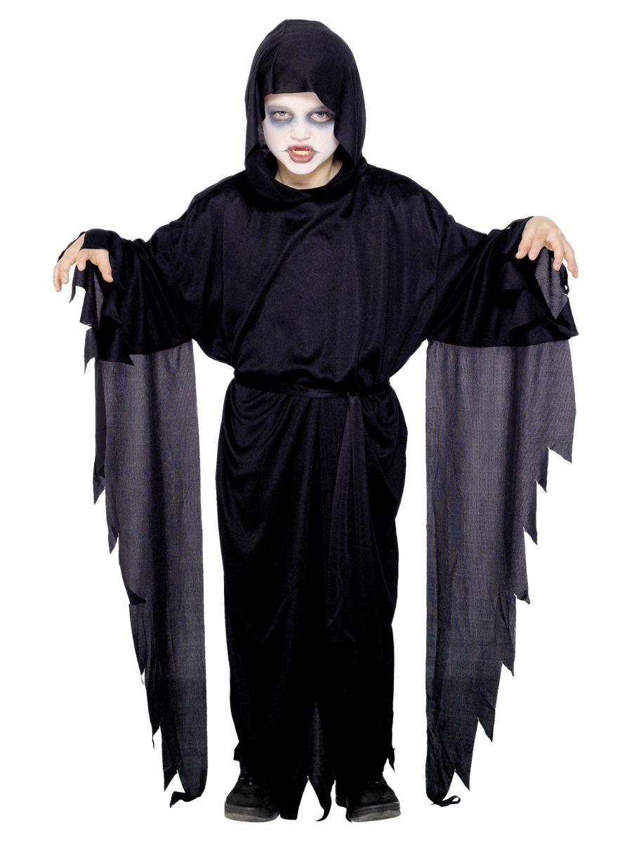 BOYS/HALLOWEEN/Screamer Ghost Costume, Black