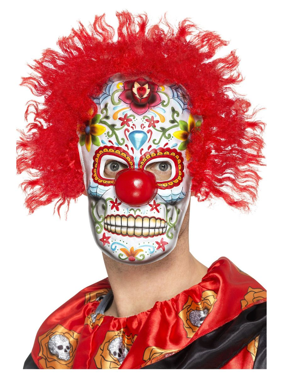 ACCESSORIES/HALLOWEEN/MASKS/Day Of The Dead Clown Mask (one Size)