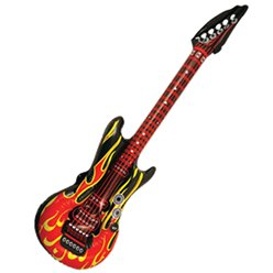 ACCESSORIES/INFLATABLES/INFLATABLE GUITAR-DIFFERENT COLOURS