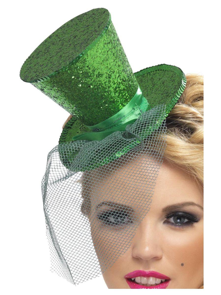 ACCESSORIES/HATS & HEADBANDS/Fever Mini Top Hat on Headband, Green