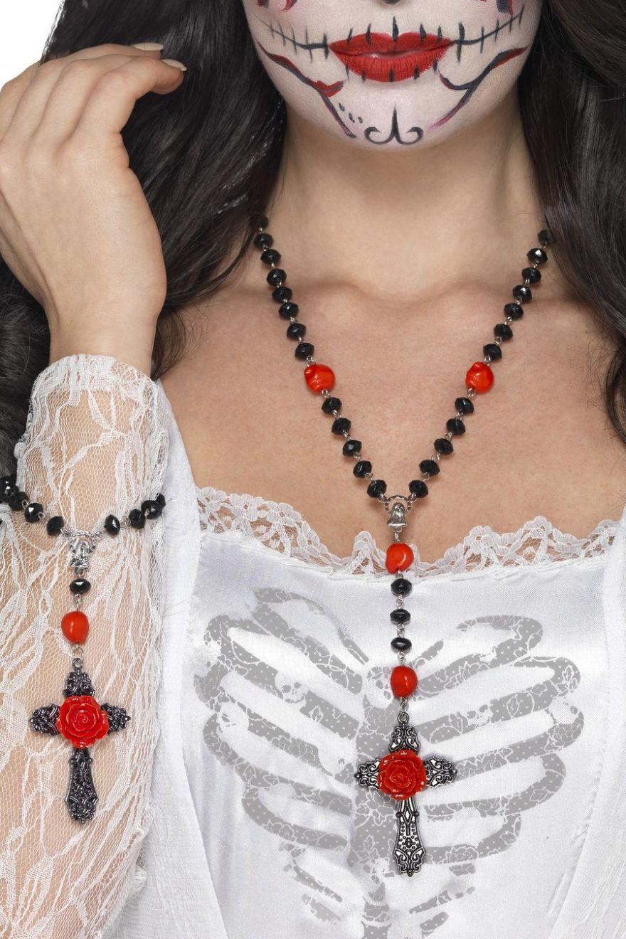 ACCESSORIES/JEWELLERY/day of the dead rosary