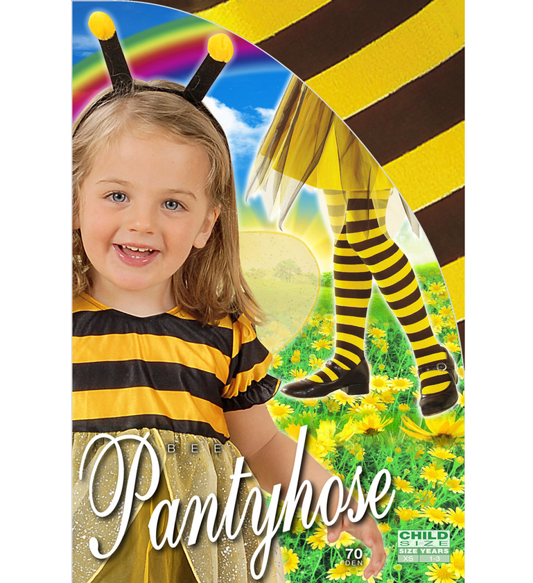 GIRLS/TIGHTS/BEE PANTYHOSE - YELLOW/BLACK Childrens