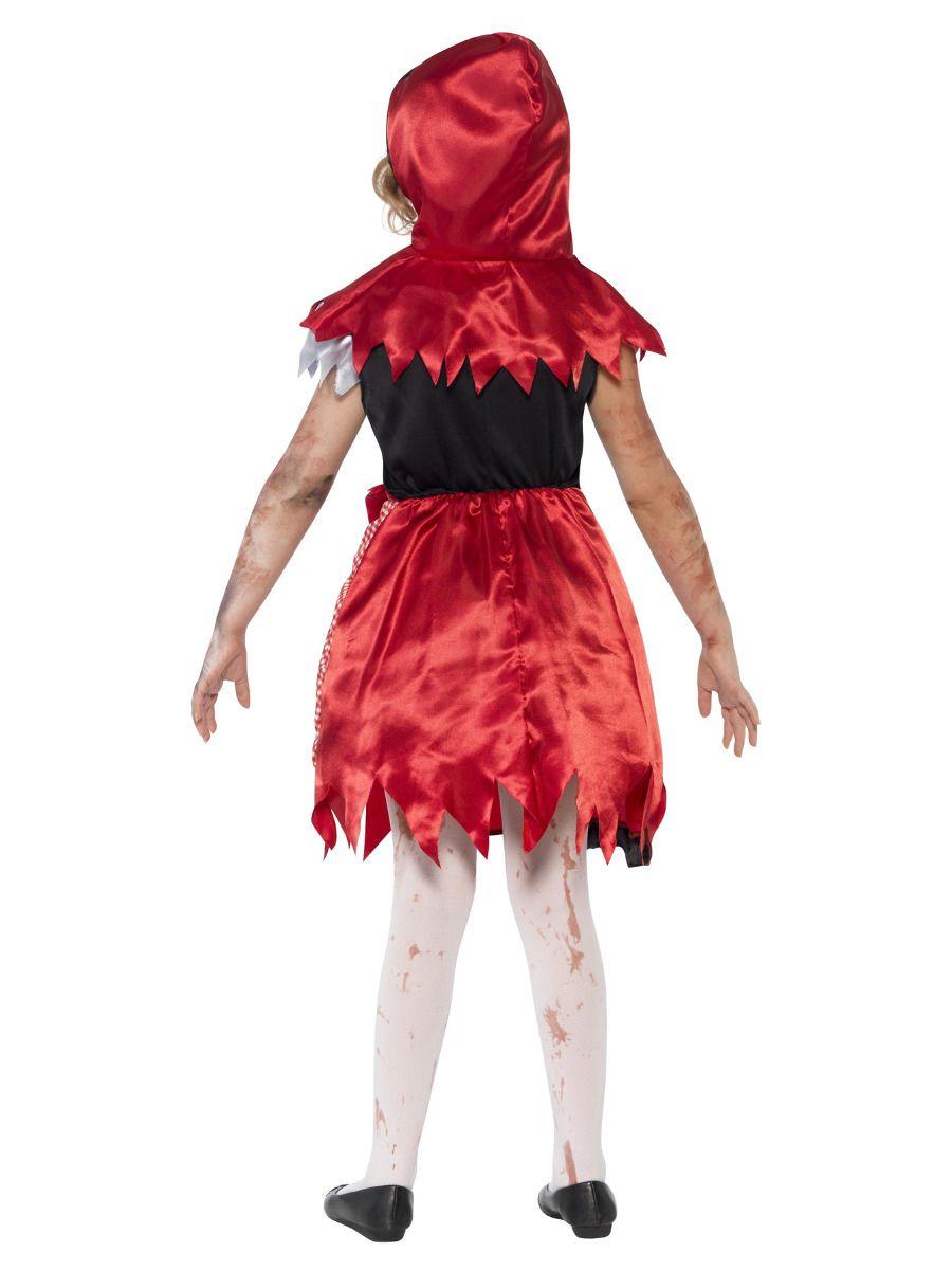 GIRLS/HALLOWEEN/Zombie Miss Hood Costume, Red