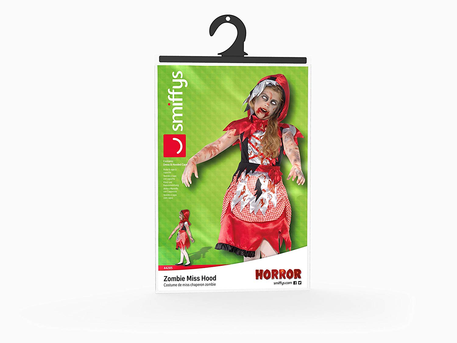 GIRLS/HALLOWEEN/Zombie Miss Hood Costume, Red