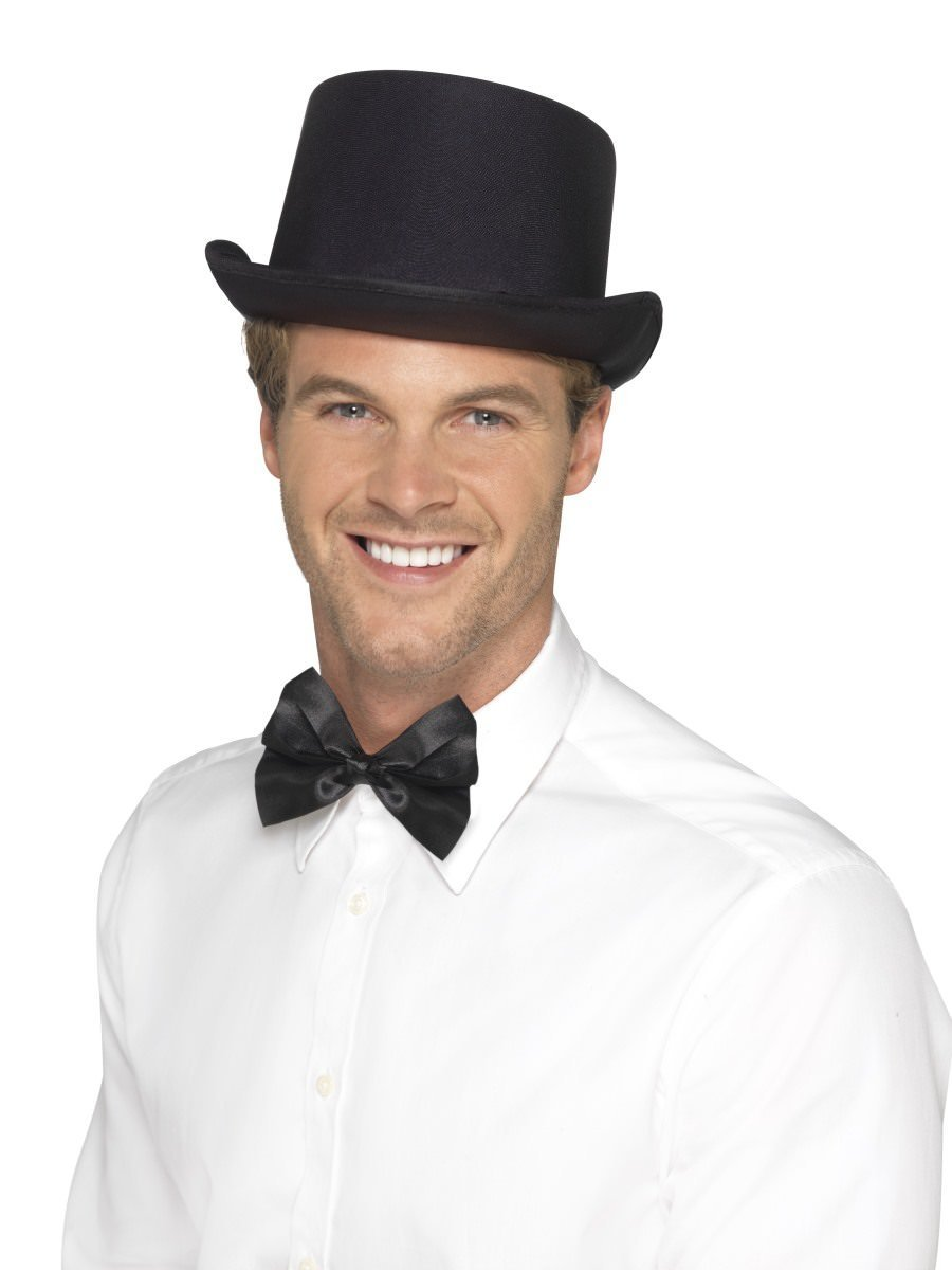 ACCESSORIES/HATS & HEADBANDS/ TOP HAT SATIN LOOK