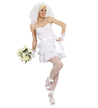 WOMAN/NOVELTY/BRIDE (top skirt belt cuffs veil)