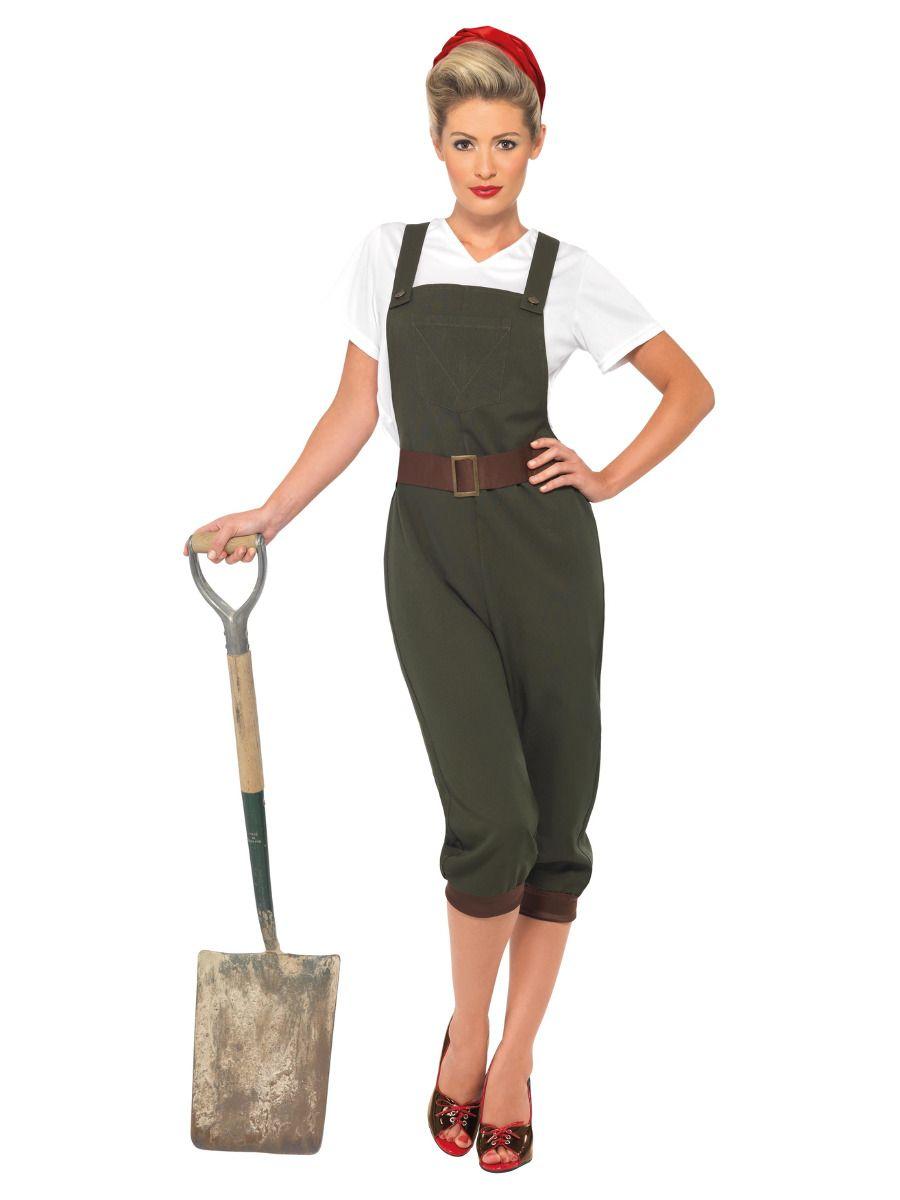 WOMAN/UNIFORMS/WW2 Land Girl Costume, Green