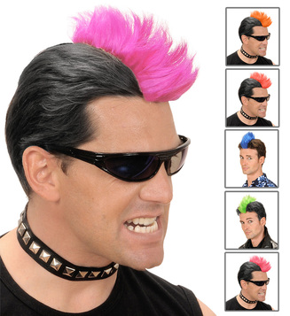 WIG/NOVELTY/ CLIP ON PUNK CREST - 6 colours