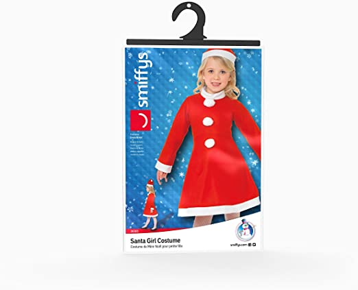 GIRLS/CHRISTMAS/ Santa Girl Costume, Red